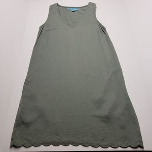 Dina Be Tencel Green Sleeveless Dress